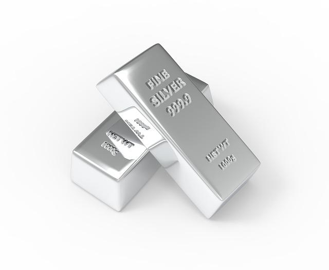 Sztabki srebra - inwestowanie w ETF na srebro